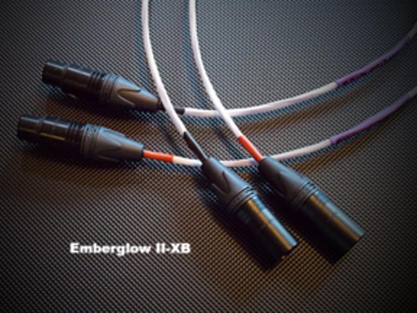 "Musica Bella Emberglow II X-B Balanced Interconnect 33"" Brand new custom"