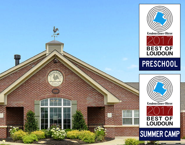 Best of Louden preschool and summer camp certificates with Primrose school of Ashburn in the background
