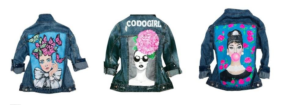 Examples of refashioned denim by CODOGIRL