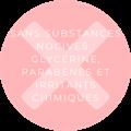 des produits sans substances nocives et sans irritants chimiques