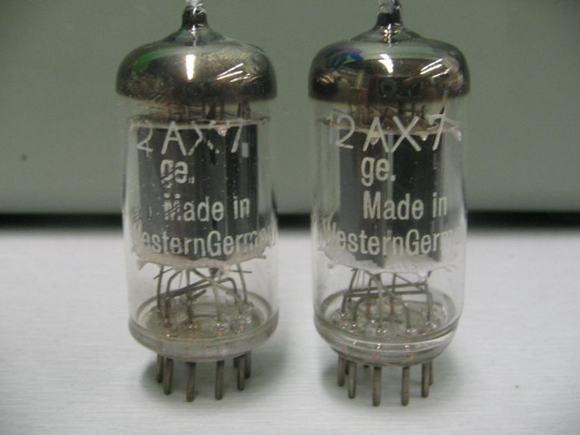 Telefunken ECC83 12AX7 Early 50's pair excellent!