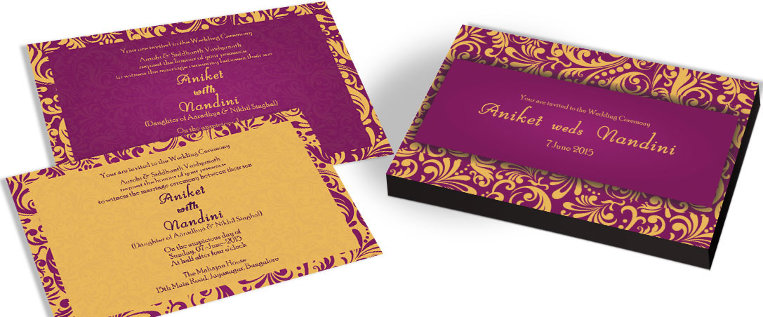Henna Pattern Wedding Invitation Chocolate Gifts box