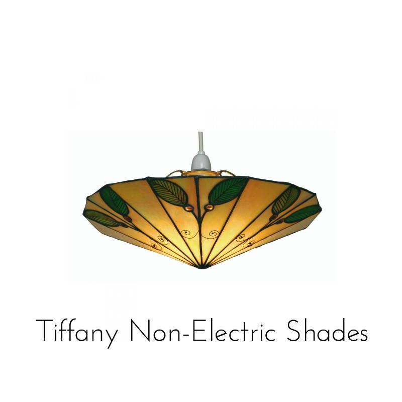 non electric tiffany shades