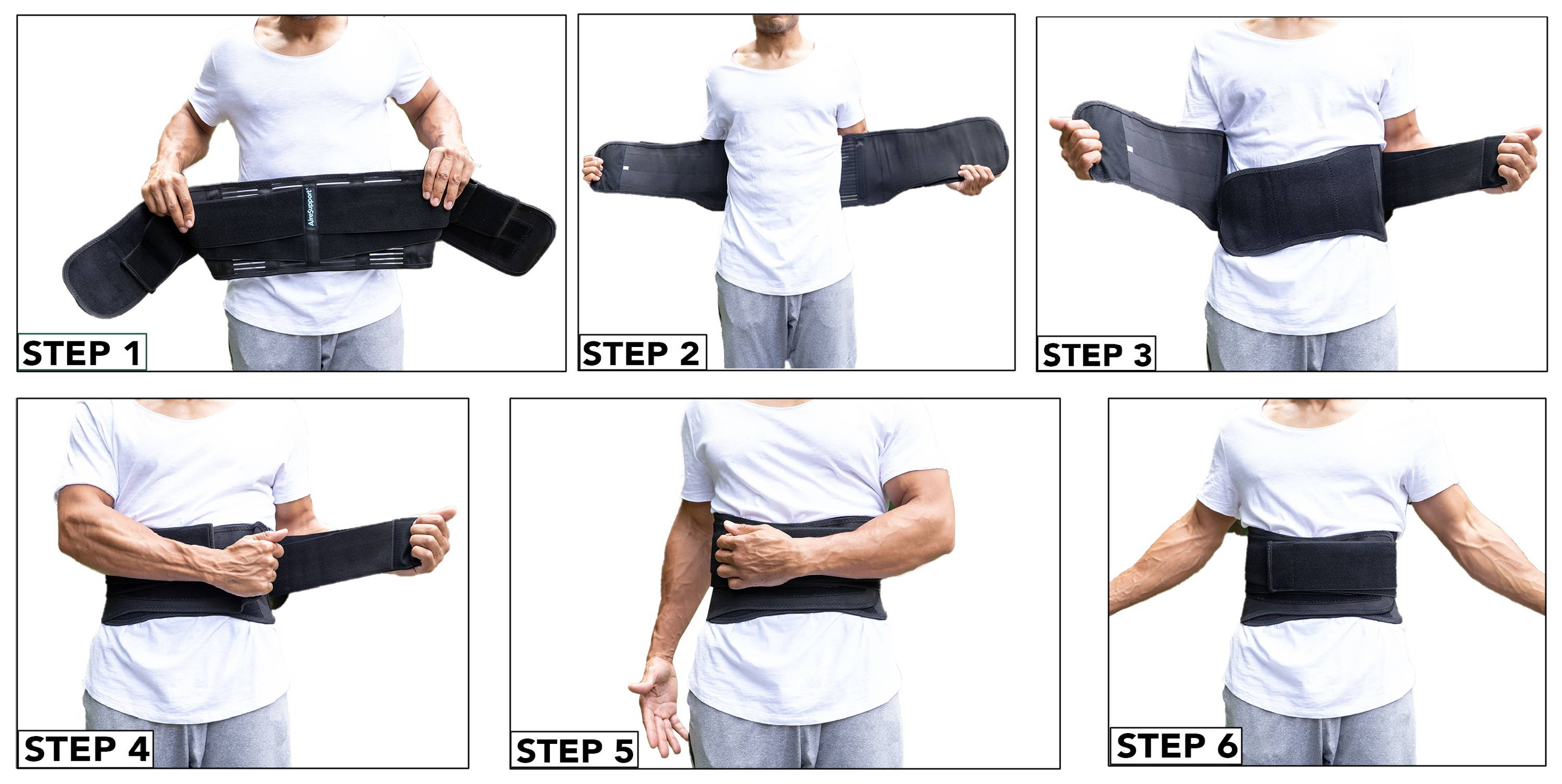 How to wear lumbar support back brace