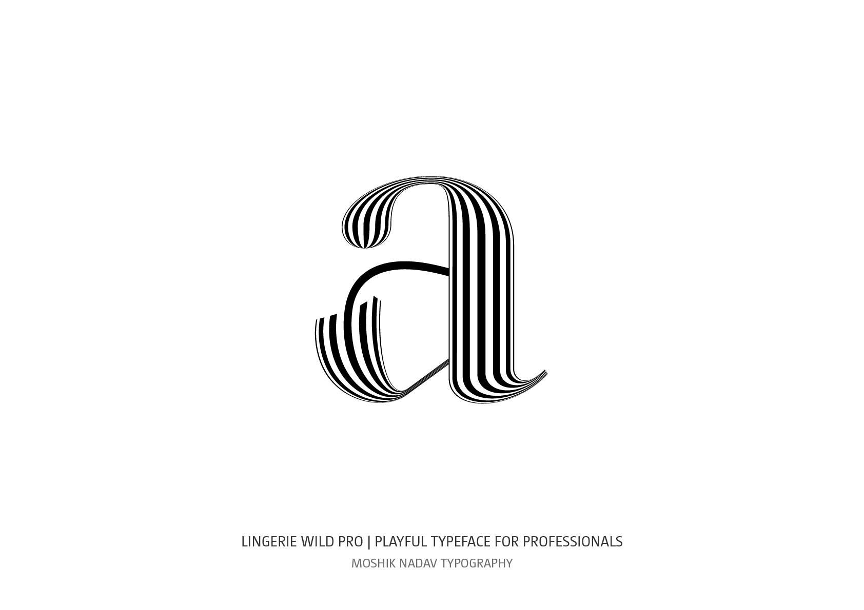 Beautiful a for logos and fashion magazines by Moshik Nadav Typography