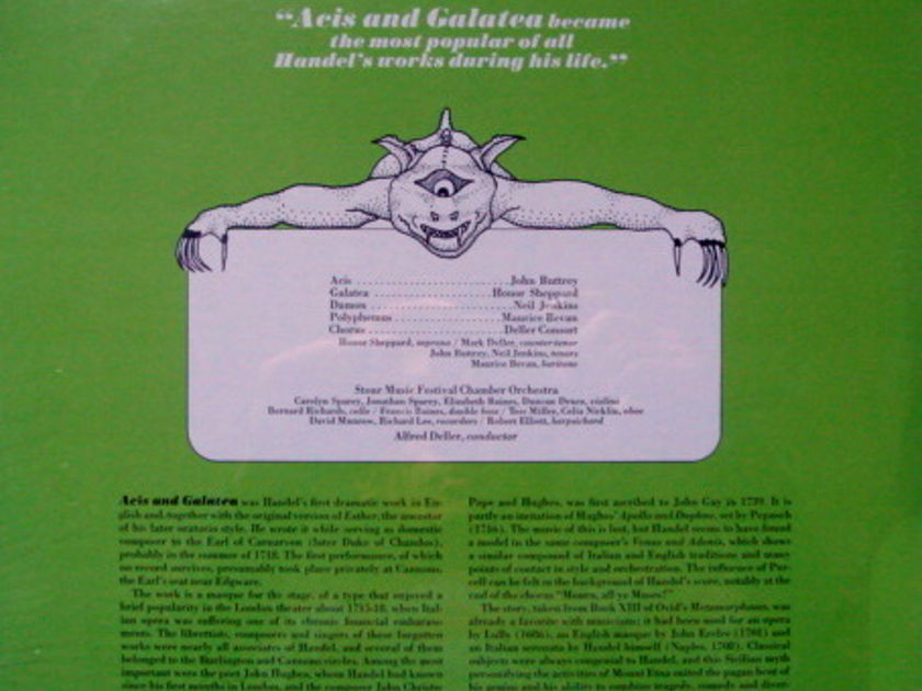 ★Sealed★ RCA Victrola / DELLER, - Handel Acis & Galatea, 2LP Set!