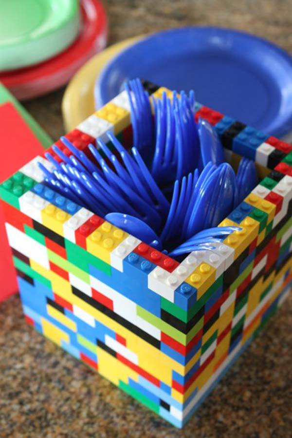 DIY LEGO kitchen utensils holder