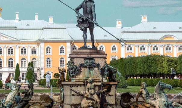 Петергоф. Малый дворец. Нижний парк и фонтаны