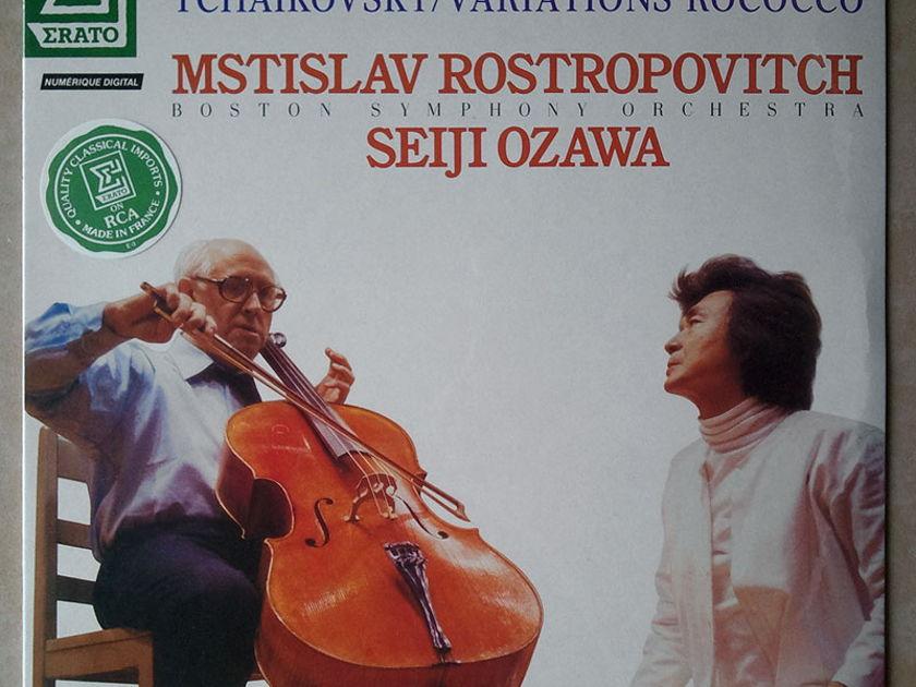 Sealed ERATO | ROSTROPOVICH/OZAWA/DROVAK - Cello Concerto, Tchaikovsky Variations on a Rococo Theme