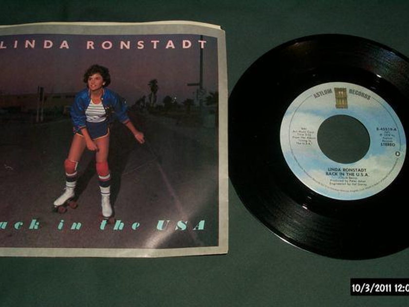 Linda Ronstadt - Back In The Usa 45 with picture sleeve