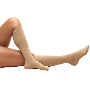 Knee High Closed Toe Anti-Embolism Stockings in Beige
