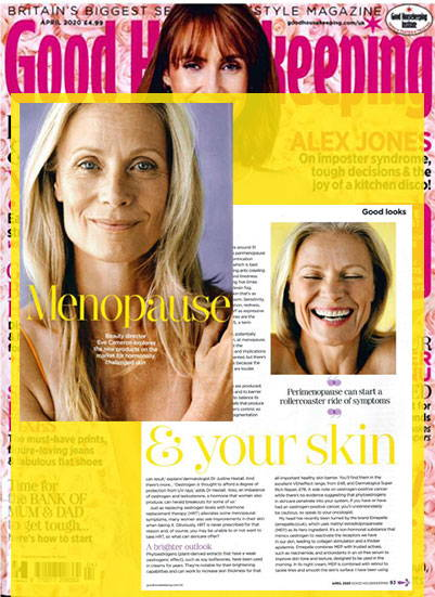Good Housekeeping Beauty Director Discusses Menopause and the Effect on Skin. Recommends VENeffect Skin Care