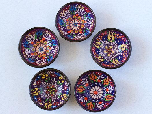 Набор фиолетовых керамических соусниц (5 шт)
