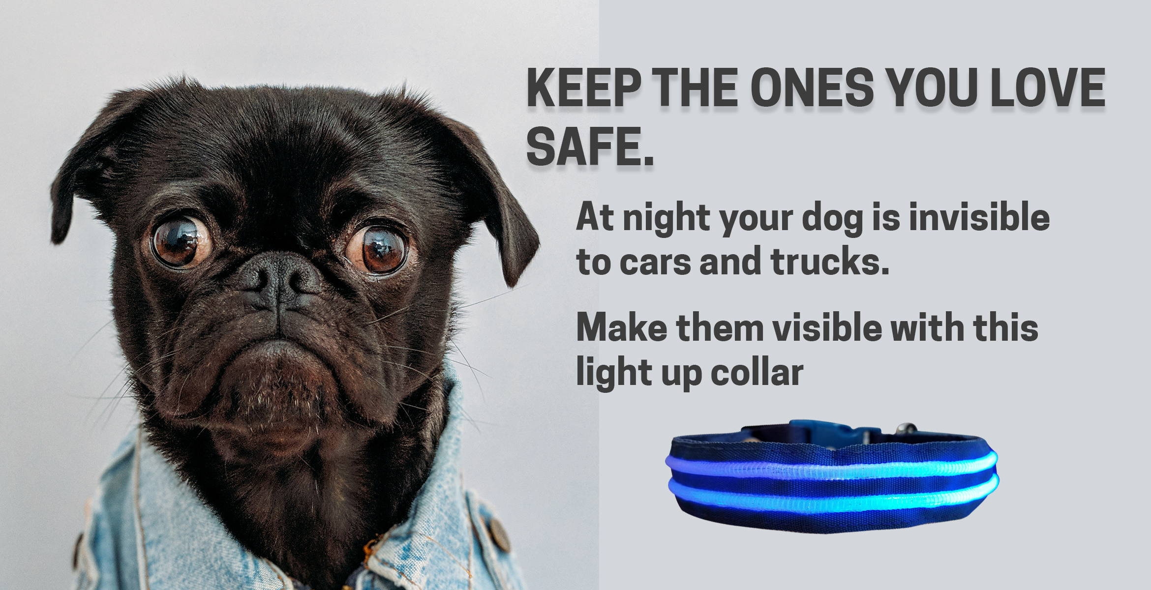 light adjustable nylon with flash pet rechargeable reflective led collar itm safety plastic dog flashing up