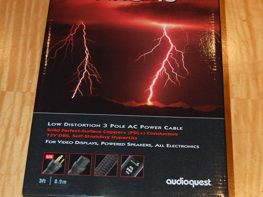 AudioQuest NRG10  AC power cord  with 72v dbs modules--NEW!! 3 feet long