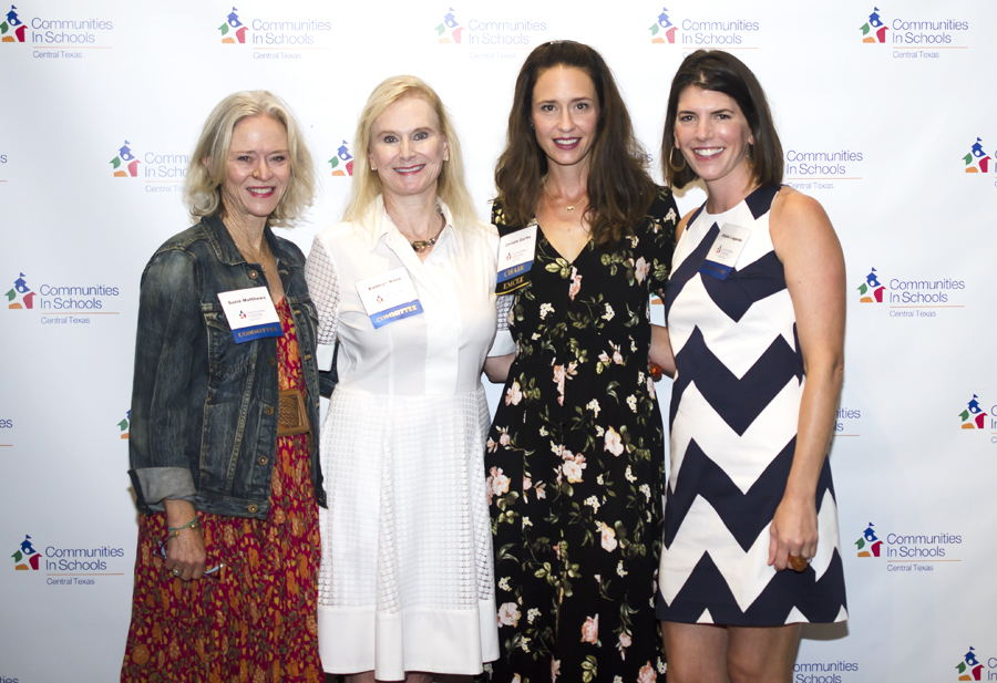 Food for Thought Host Committee Members Susie Matthews, Kathryn Ross, Event Chair Christie Curtis, & Alisha Lagarde