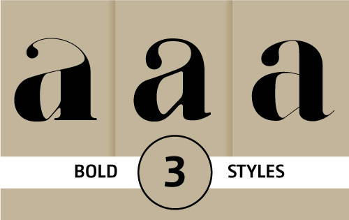 Bold fonts for fashion magazines