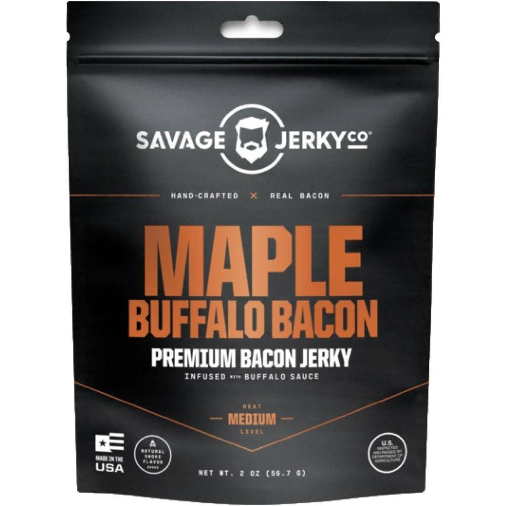 Savage Jerky Maple Buffalo Bacon Jerky