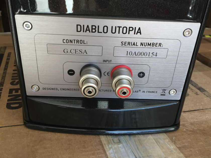 Focal Diablo Utopia III black w/stands Mint customer trade-in