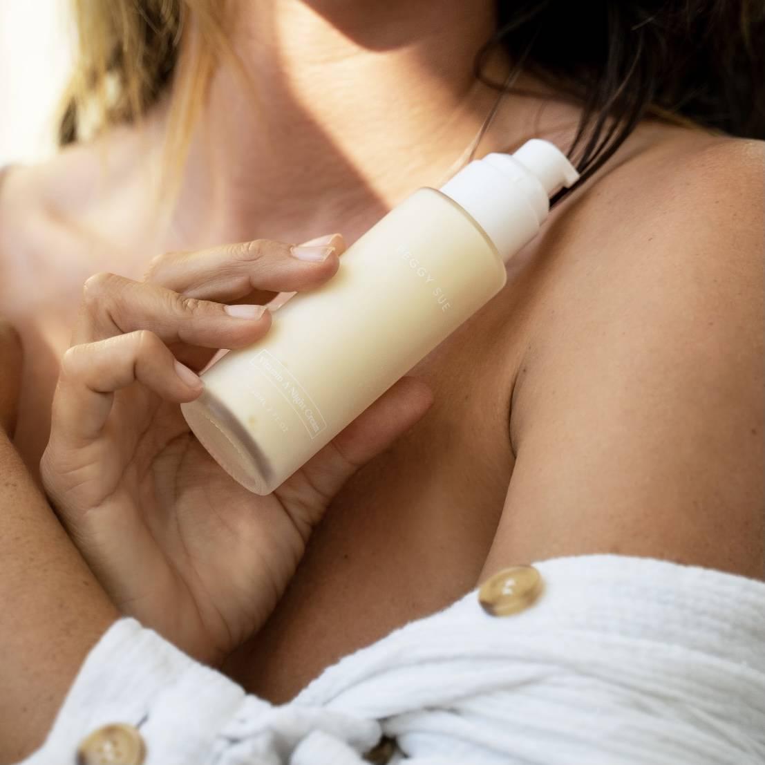 Model with Vitamin A Night Cream