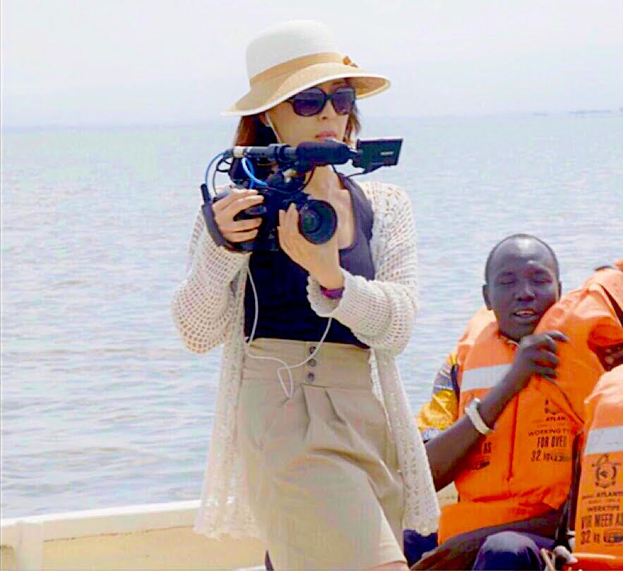 Catherine Lee as a film director