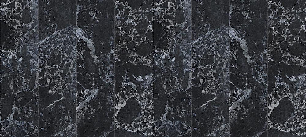 Black marble wallpaper design by Piet Hein Eek