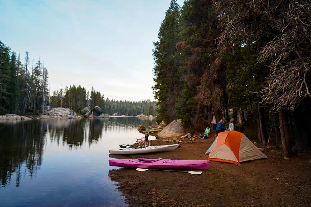 Camp and Kayak at Utica Reservoir in Stanislaus National Forest