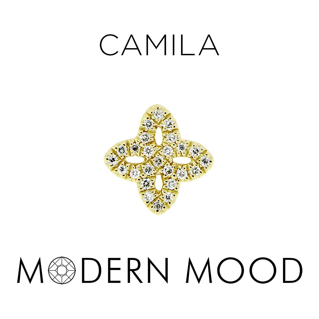camila diamond flower piercing jewelry