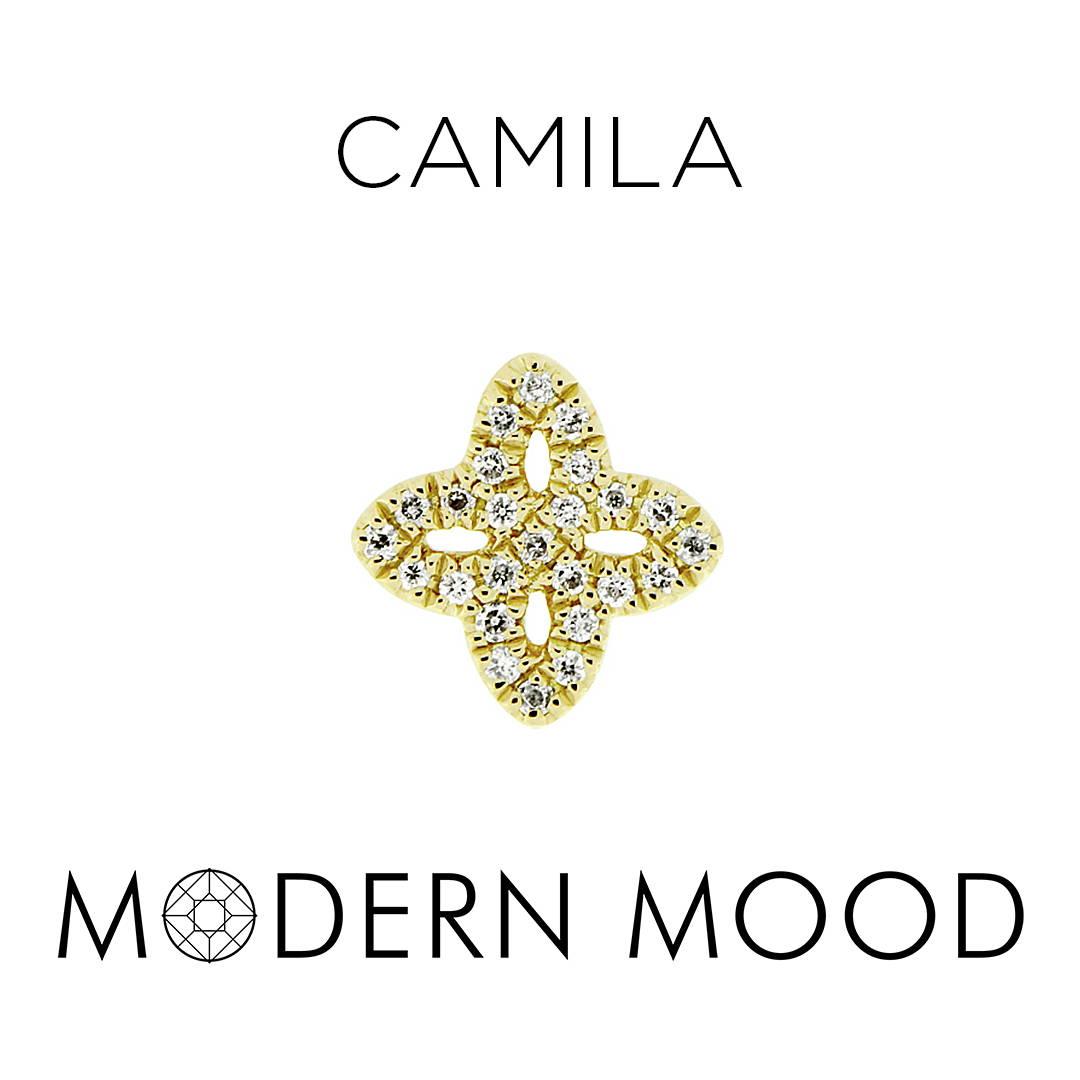 camila diamond flower piercing jewelry