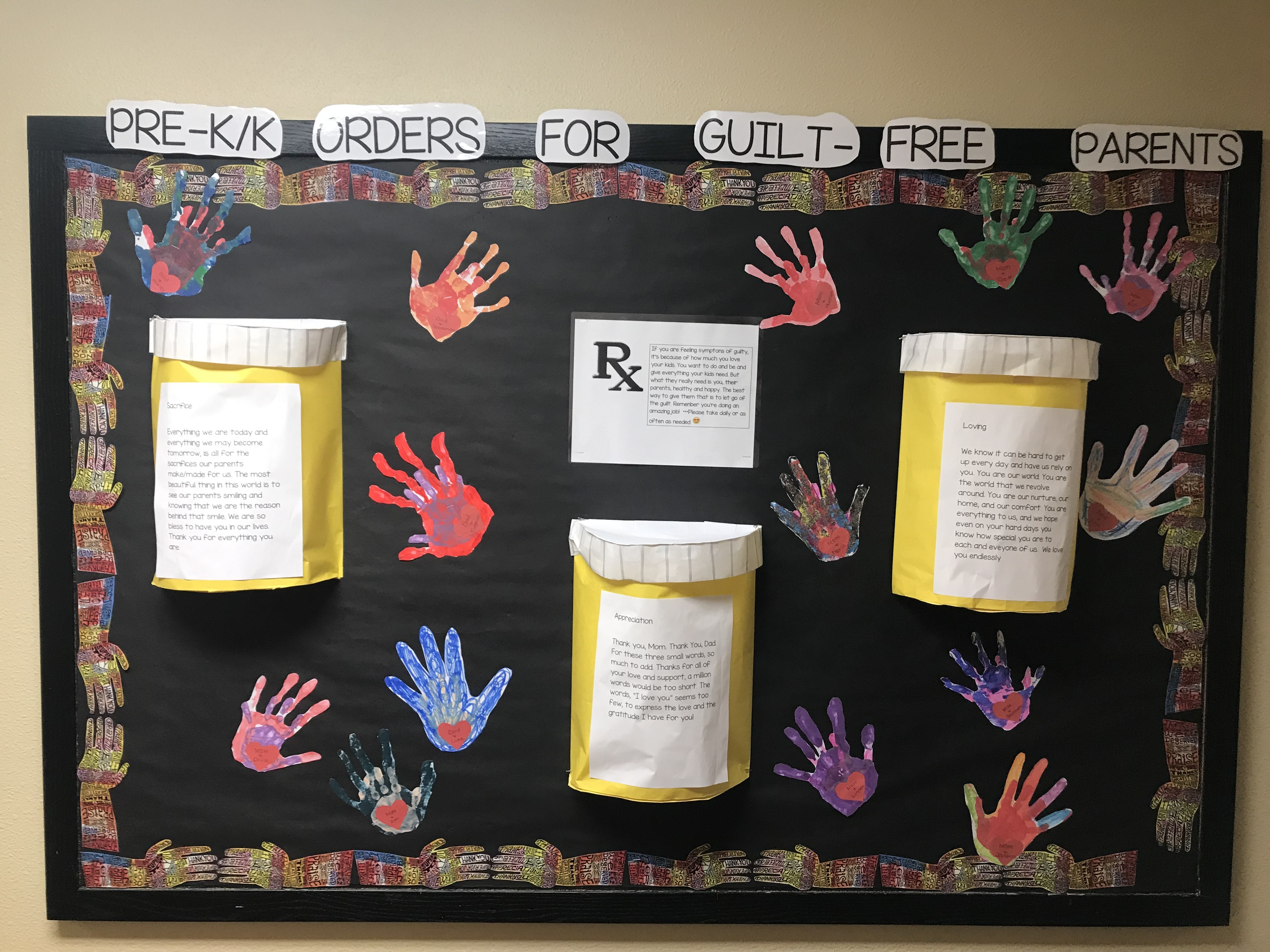 Primrose School of Anson-Zionsville school's bulletin board