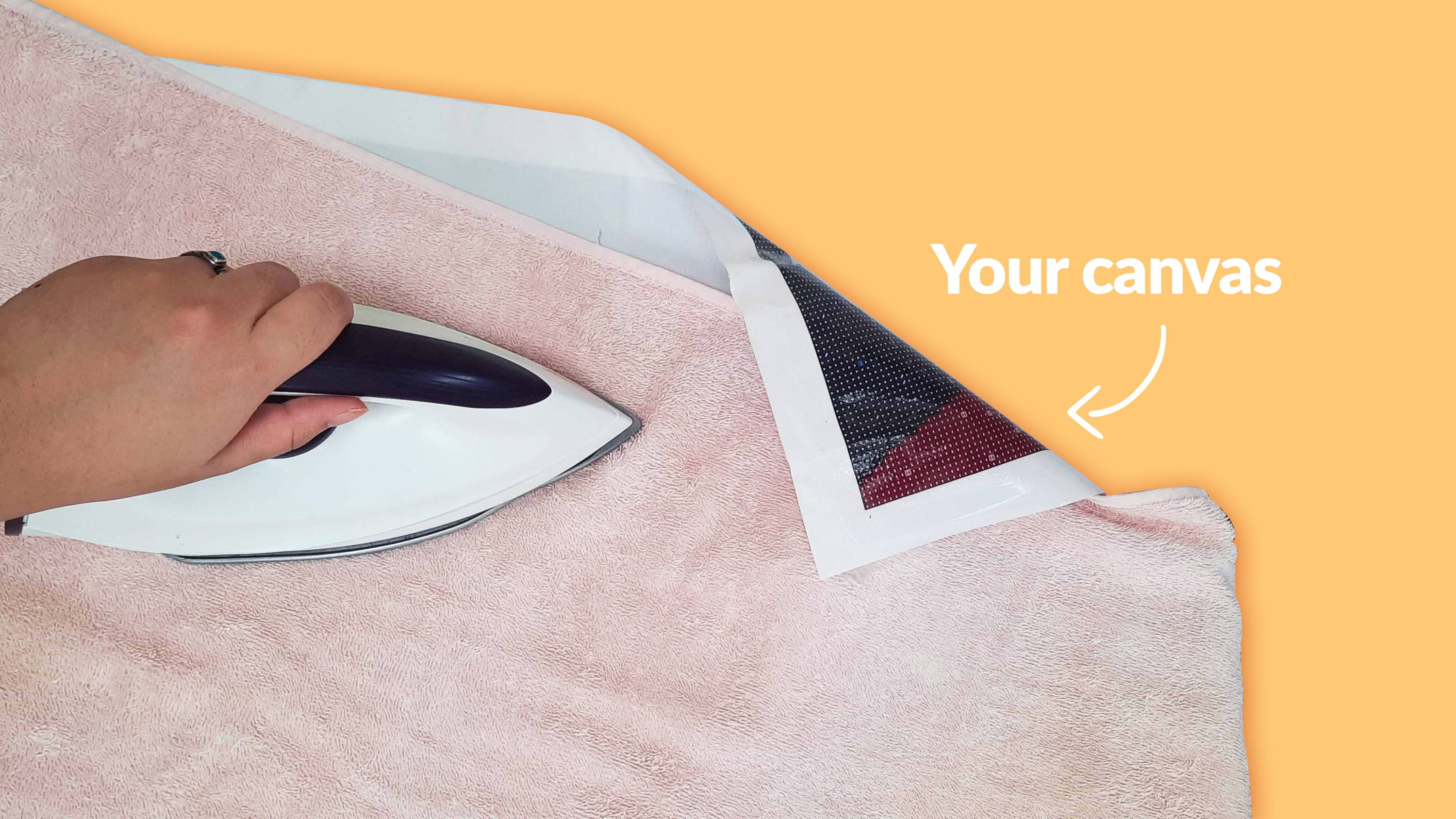 You can iron the back of your diamond painting kit on low heat to flatten it.