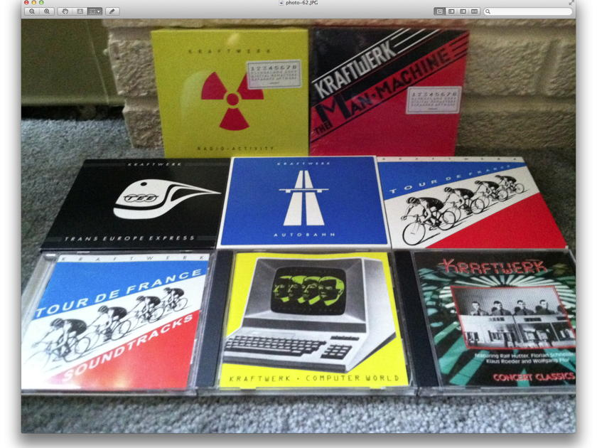 Kraftwerk - Lot of 7 CDs / some brand new free shipping and Free Paypal