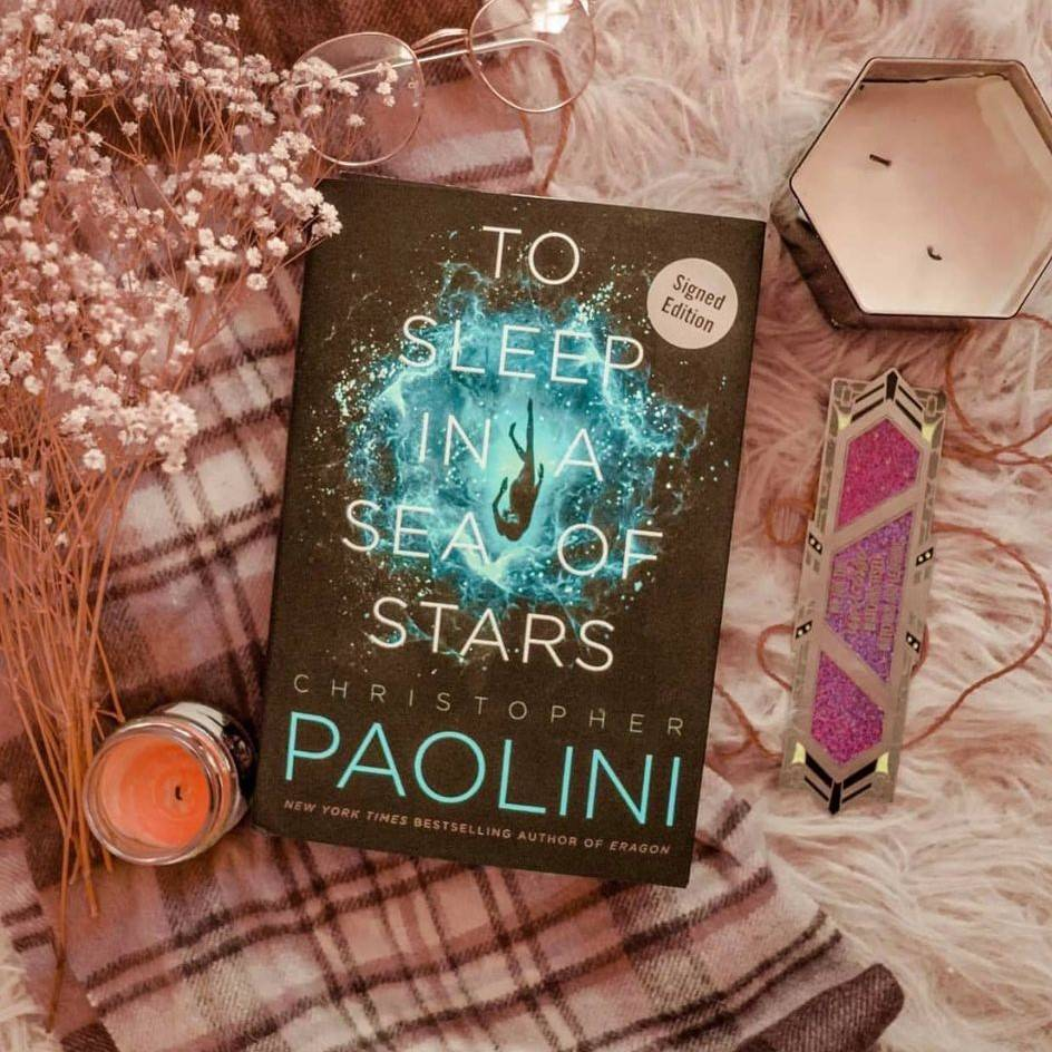 To Sleep in a Sea of Stars by Christopher Paolini and Enamel Bookmark