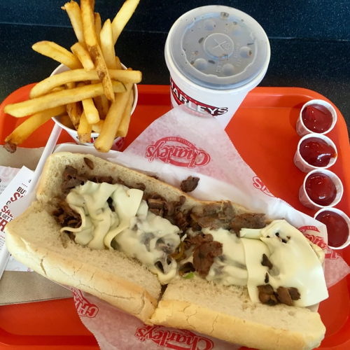 Picture of Charleys Philly Steaks is open for pickup or delivery.