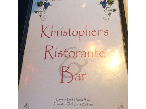 Dining at Khristopher's Café