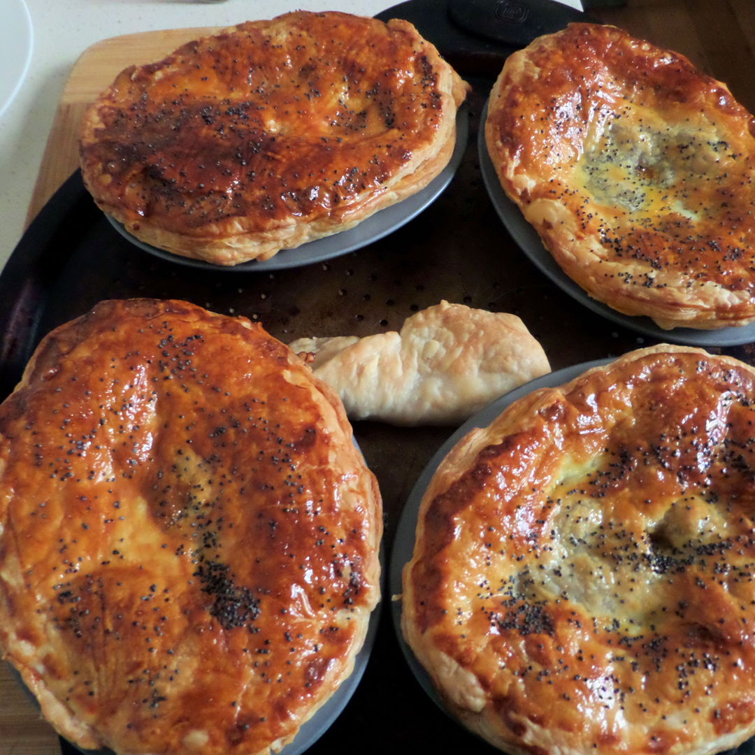 Aussie chunky meat pies.