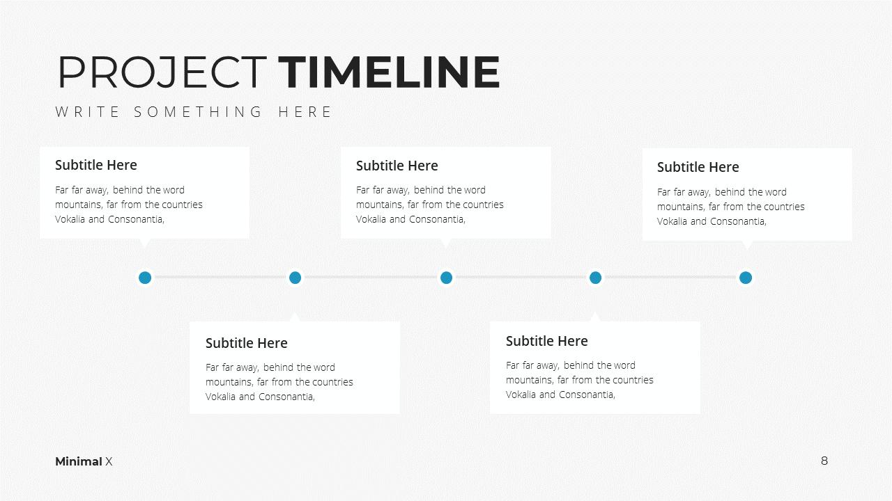 Minimal X Project Proposal Presentation Template Project Timeline