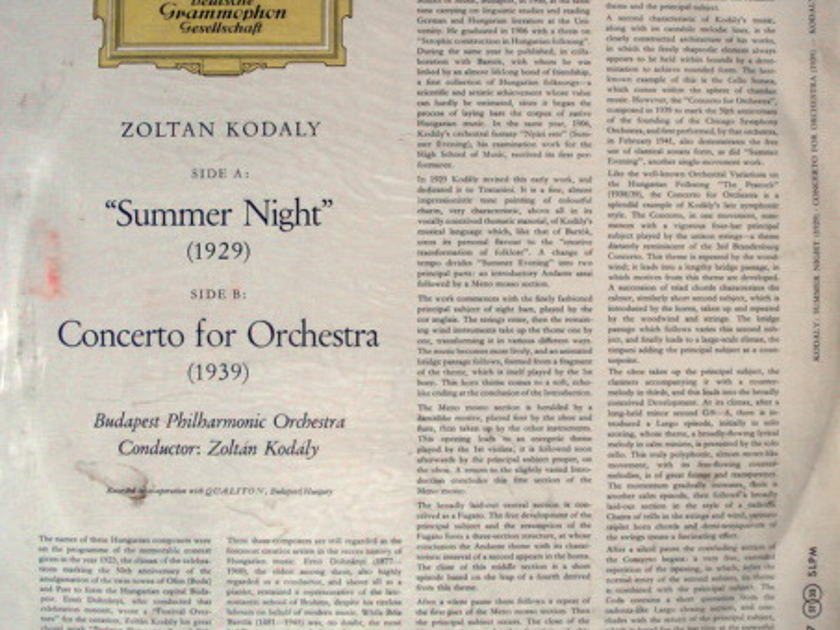 ★Sealed 1st Press★ DGG Red-Stereo / KODALY, - Kodaly Summer Night, Concerto for Orchestra, Promo Copy!