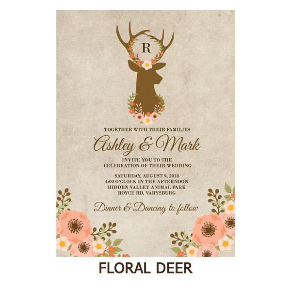 Floral Deer Wedding