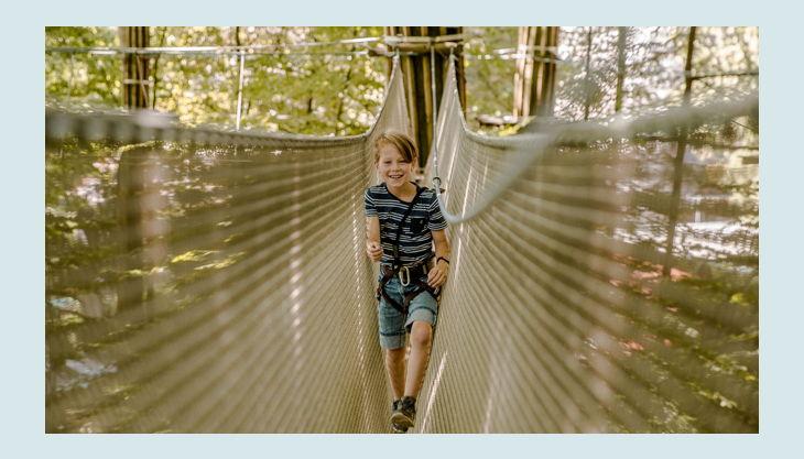 kinderparcours kletternetz