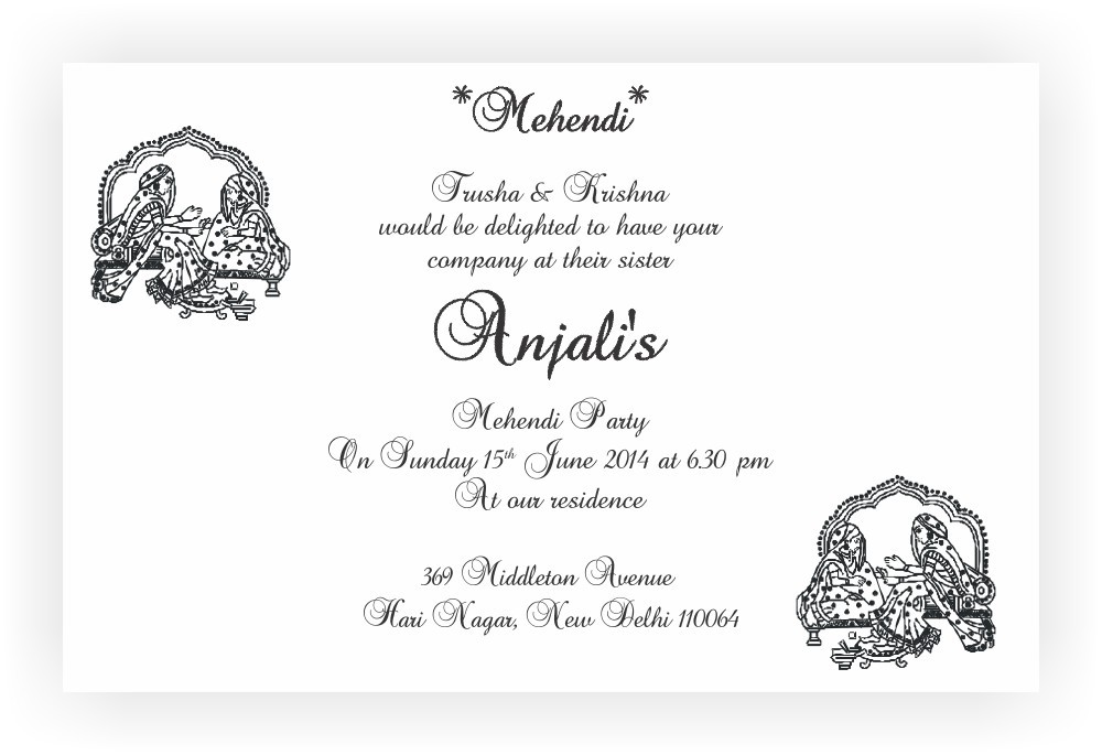 Mehandi ceremony invitation wordings chococraft stopboris Images