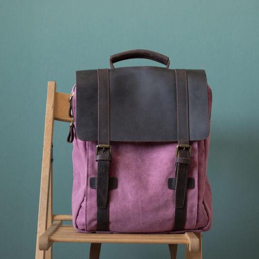 Рюкзак с отделкой из кожи