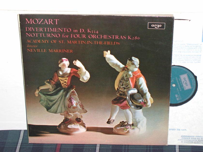 Marriner/AoStMitF - Mozart Divertimento  LP UK argo/decca zrg-705