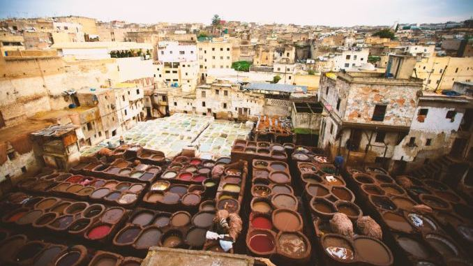 Outdoor leather tanneries
