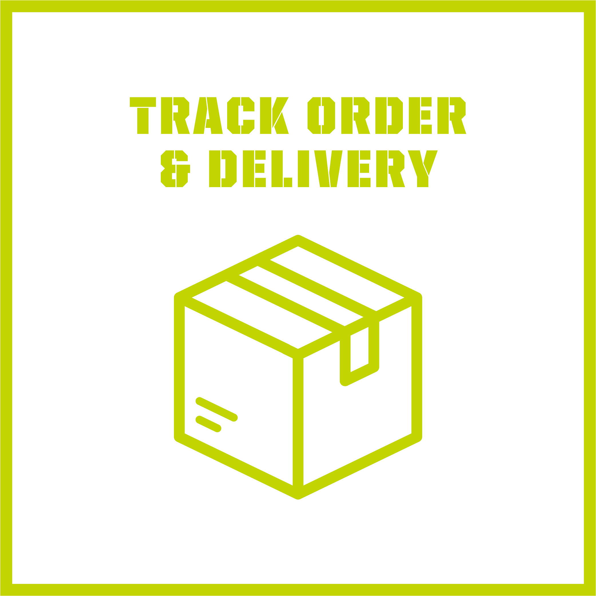 Track order & delivery