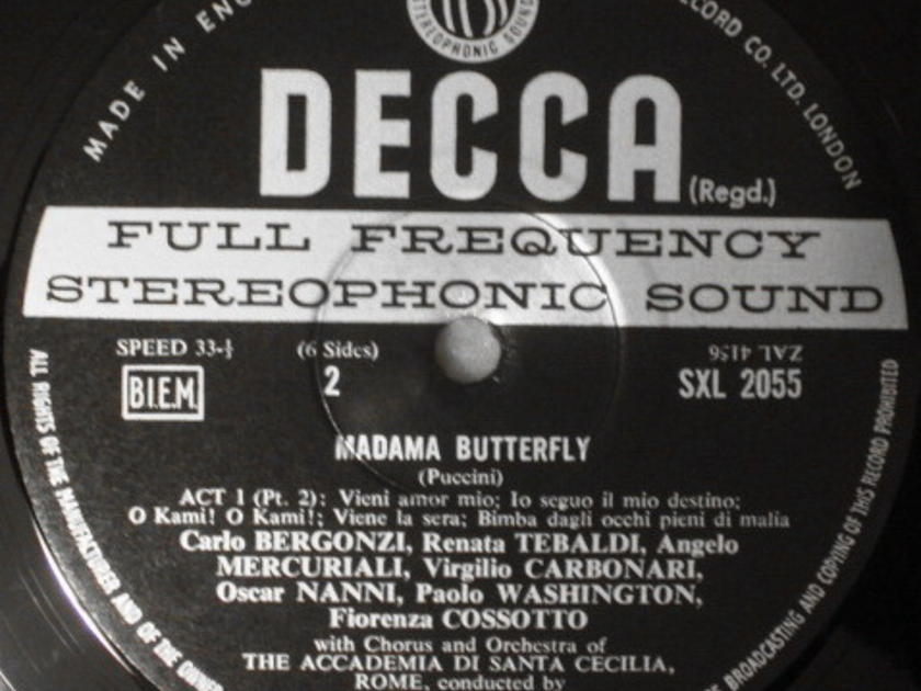 DECCA SXL-WB-ED3 / SERAFIN-TEBALDI, - Puccini Madama Buterfly, NM, 3LP Box Set!
