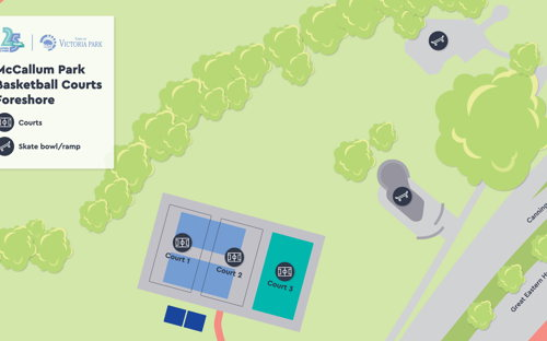 McCallum Park Outdoor Basketball Courts - Court 3 - 0