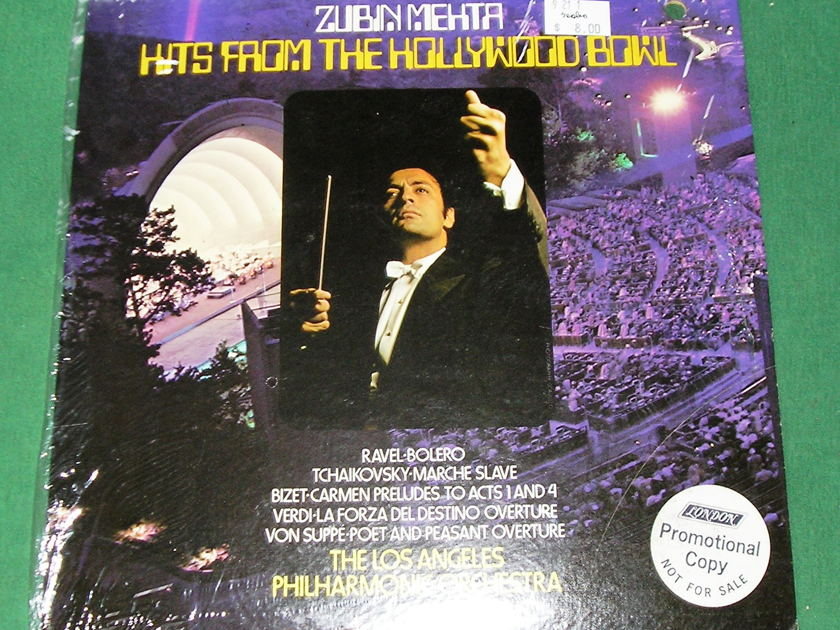 ZUBIN MEHTA - HITS FROM THE HOLLYWOOD BOWL  - * 1973 LONDON PROMOTIONAL COPY - 1st PRESS * FACTORY SHRINK - NM 9/10 (Punch-out)