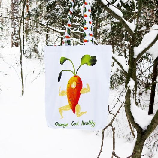 Текстильная сумка авоська «Бодрая Морковь»