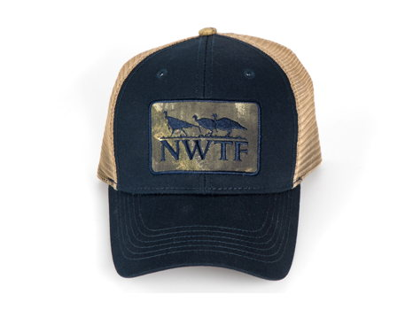 Cap Navy Twill w/ tan mesh back & NWTF Logo Applique